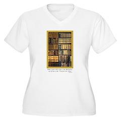 Erasmus Quote Women's Plus V-Neck T-Shirt