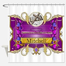 Mitchell Family Crest Shower Curtain