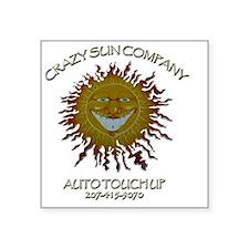 """Crazy Sun 2013 Square Sticker 3"""" x 3"""""""
