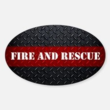 Fire And Rescue Diamond Plate Decal