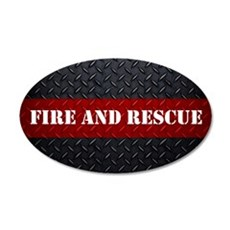Fire and Rescue Diamond Plate Wall Decal