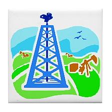 Oil Field - Derrick Tile Coaster