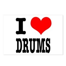 I Heart (Love) Drums Postcards (Package of 8)