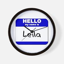 hello my name is leila  Wall Clock