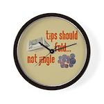 Tips should fold Wall Clock