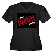 Banned Books Women's Plus Size V-Neck Dark T