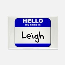 hello my name is leigh Rectangle Magnet