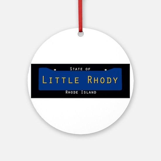 Rhode Island Nickname #2 Round Ornament