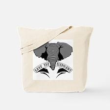 Save The Elephant Tote Bag