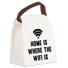 Home Is Where The Wifi Is Canvas Lunch Bag