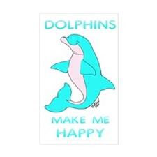 Happy Dolphin Rectangle Decal
