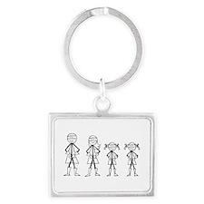Super Family 2 Girls Landscape Keychain