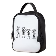 Super Family 2 Girls Neoprene Lunch Bag