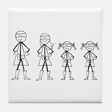 Super Family 2 Girls Tile Coaster