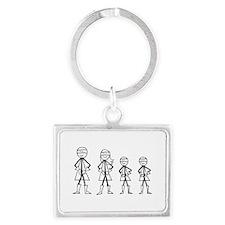Super Family 2 Boys Landscape Keychain