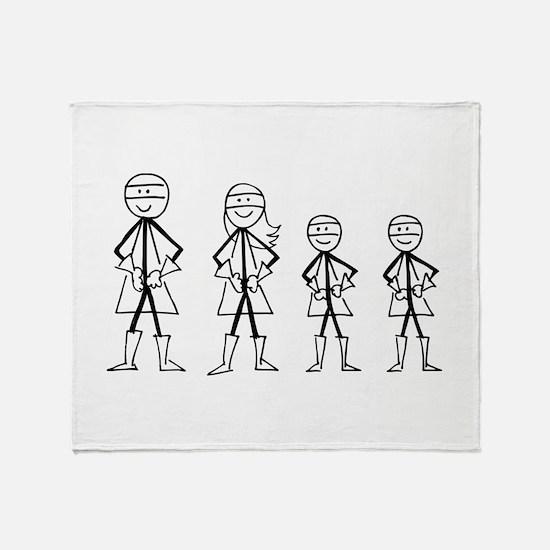 Super Family 2 Boys Throw Blanket