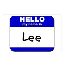 hello my name is lee  Postcards (Package of 8)