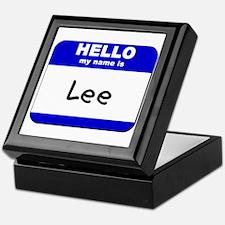 hello my name is lee Keepsake Box