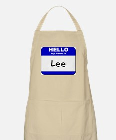 hello my name is lee  BBQ Apron