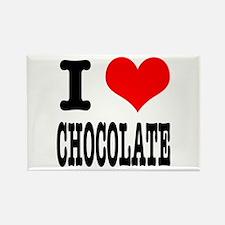 I Heart (Love) Chocolate Rectangle Magnet