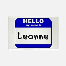 hello my name is leanne Rectangle Magnet