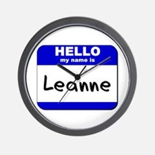 hello my name is leanne  Wall Clock