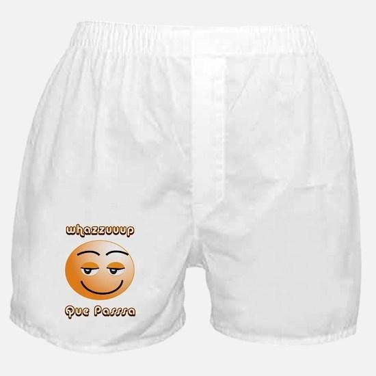 Whasssuup / Que Passsa Smilie Boxer Shorts