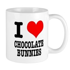 I Heart (Love) Chocolate Bunnies Mug