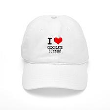 I Heart (Love) Chocolate Bunnies Baseball Cap