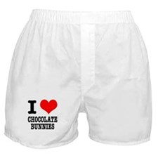 I Heart (Love) Chocolate Bunnies Boxer Shorts