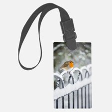 Robin in the Snow Luggage Tag