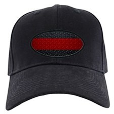 Diamond Plate Thin Red Line Baseball Hat