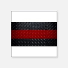 Diamond Plate Thin Red Line Sticker