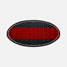 Diamond Plate Thin Red Line Patches