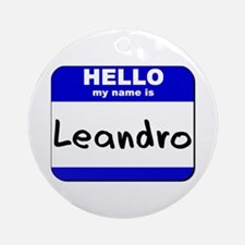 hello my name is leandro  Ornament (Round)