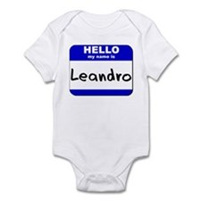 hello my name is leandro  Infant Bodysuit