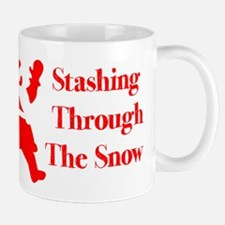 Stashing Through The Snow Mugs