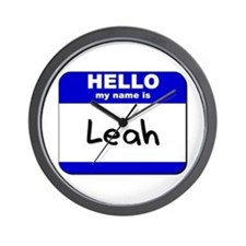 hello my name is leah  Wall Clock