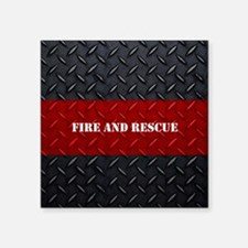 Fire and Rescue Diamond Plate Sticker