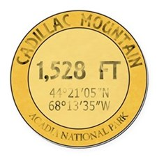 Cadillac Mountain Round Car Magnet