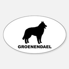 Groenendael Dogs Oval Decal