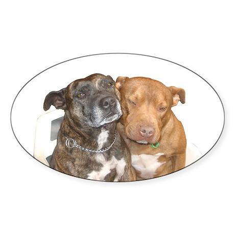 Staffordshire White Oval Sticker