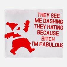 They see me dashing Throw Blanket
