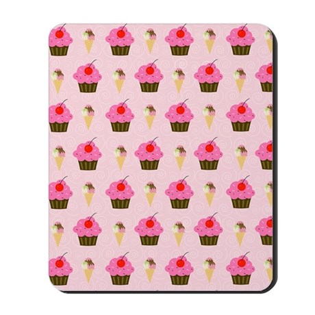 Cupcakes and Ice Cream Mousepad