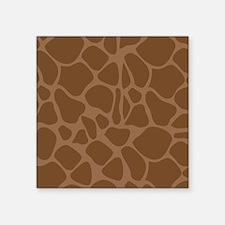 "Giraffe Print Square Sticker 3"" x 3"""