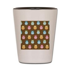 Owl Pattern Lunch Tote - Brown Shot Glass