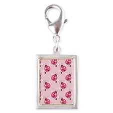 Ladybug Lunch Tote - Lighter Silver Portrait Charm