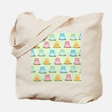 Owl Pattern Lunch Tote - Light Green Tote Bag