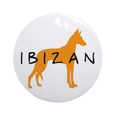 Ibizan Hound (gold) Ornament (Round)