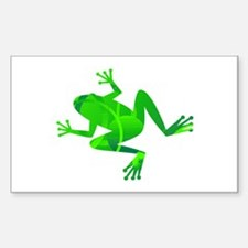 Green Frog Rectangle Decal